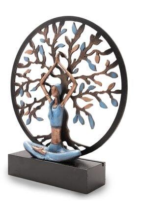 Gift Garden Yoga Yapan Kadın Mavi Büyük Hayat Ağacı 1