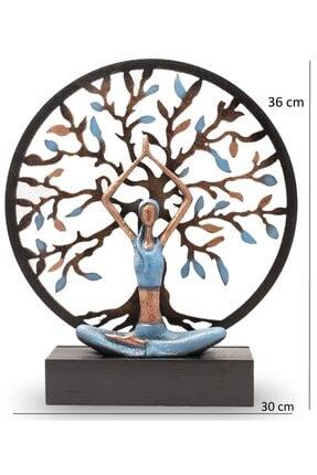 Gift Garden Yoga Yapan Kadın Mavi Büyük Hayat Ağacı 2