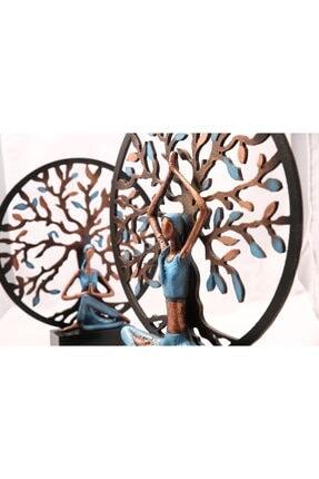Gift Garden Yoga Yapan Kadın Mavi Büyük Hayat Ağacı 3