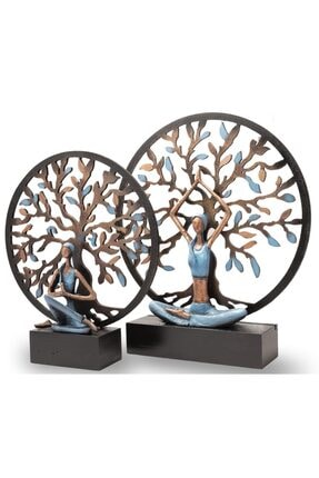 Gift Garden Yoga Yapan Kadın Mavi Büyük Hayat Ağacı 4