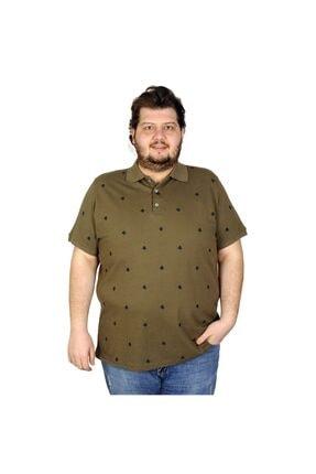 Picture of Battal Beden Erkek Tshirt Polo Yaka Paw 20408