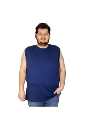 Picture of Battal Beden Erkek Kolsuz Tshirt Düz 20003 Indigo