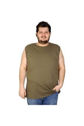 Picture of Battal Beden Erkek Kolsuz Tshirt Düz 20003 Haki