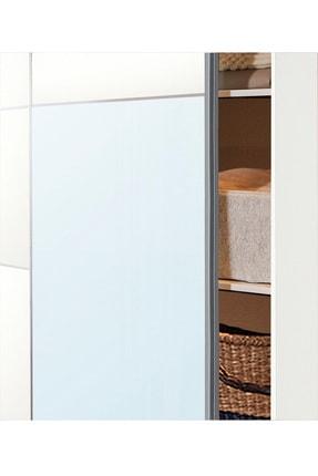DEKOREX Srg-106-beyaz -sürgü Kapaklı Aynalı Eko Gardırop 4