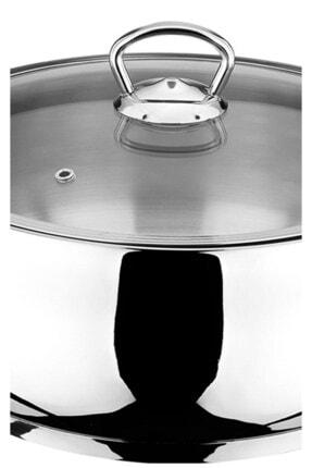 Akdeniz Merkür 22 cm 4,00 lt Metal Kulp Derin Tencere 3