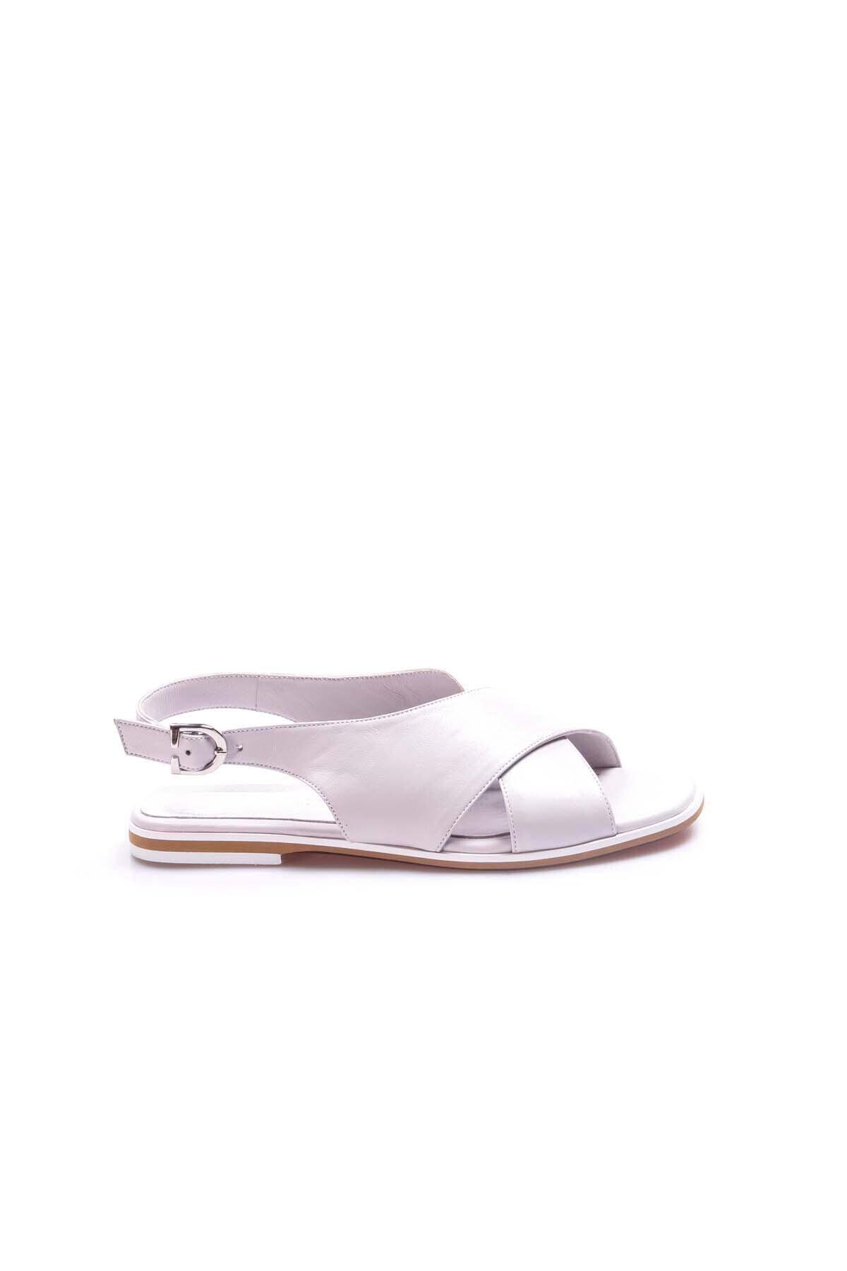 FAST STEP Kadın Lila Hakiki Deri Klasik Sandalet 888za306