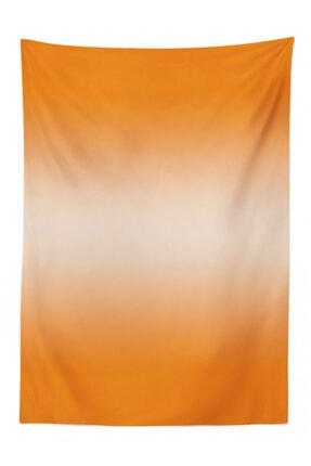 Rengirenk Soyut Masa Örtüsü Turuncu Dekoratif Desen Orange Venue 1