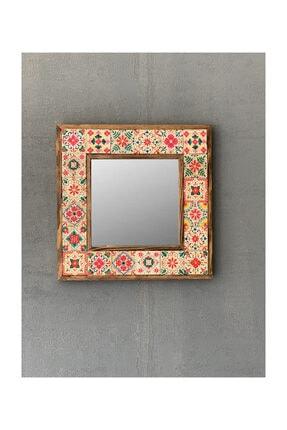 Oscar Stone Decor Çerçeveli Mozaik Doğaltaş Ayna 33 CM X 33 CM 0