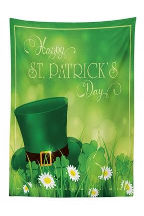 Rengirenk Irlanda Masa Örtüsü Yeşil Şapka Ve Papatya Orange Venue 1