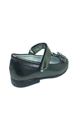 ORTAÇ Tıpış Tıpış Ilkadım Platin Rugan Bıyık Fiyonk Kız Çocuk Babet Ayakkabı Içi % 100 Deri Abiye 3