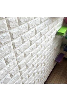 RENKLİ EVİM Kendinden Yapışkanlı Esnek Sünger Beyaz Tuğla Duvar Paneli 0