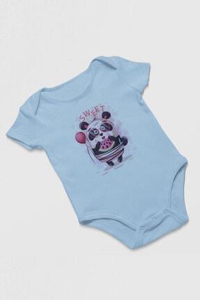 Angemiel Baby Tatlı Gözlük Takan Panda Erkek Bebek Zıbın Mavi 1