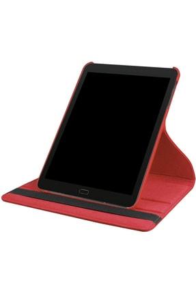 Kılıfmerkezi Ipad Air 2 Kılıf (2014) A1566 A1567 Kapaklı 360 Derece Dönerli Yatay Dikey Standlı Kırmızı 1