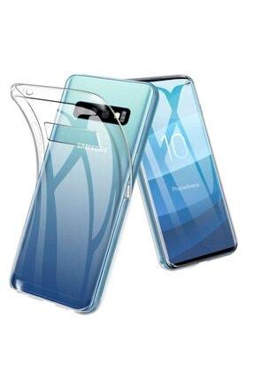 ACK Samsung Galaxy S10 Kılıf Mükemmel Kalite Sararmaz Şeffaf Süper Silikon 0