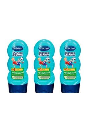 Bübchen Sport Çocuk Şampuanı Ve Duş Jeli 230 Ml X 3 Adet 0