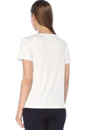 Network Kadın Regular Fit Beyaz Tshirt 1073507 2
