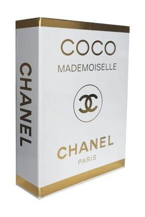 LYN HOME & DECOR Gold Varaklı Coco Mademoıselle Chanel Dekoratif Kutu 27x19x4 0