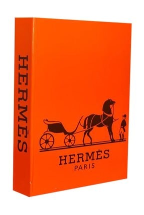 LYN HOME & DECOR Turuncu Hermes Dekoratif Kutu 27x19x4 0