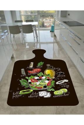 EVPANYA Kesme Tahtası Kaymaz Tabanlı Mutfak Halısı 0