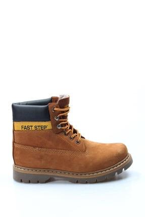 Fast Step Hakiki Deri Taba Nubuk Kürklü Erkek Çocuk Bot 3