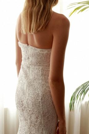 TRENDYOLMİLLA Ekru Yaka Detaylı Dantel Elbise TPRSS20EL2716 4
