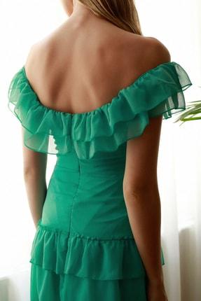 TRENDYOLMİLLA Mint Fırfır Detaylı  Abiye & Mezuniyet Elbisesi TPRSS20AE0224 3