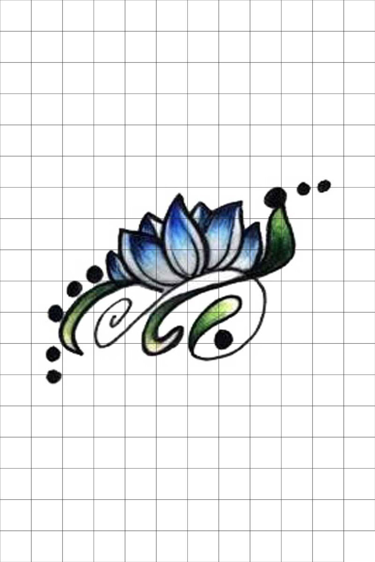 TatFast Lotus 218 Geçici Dövme Flash Tattoo 0