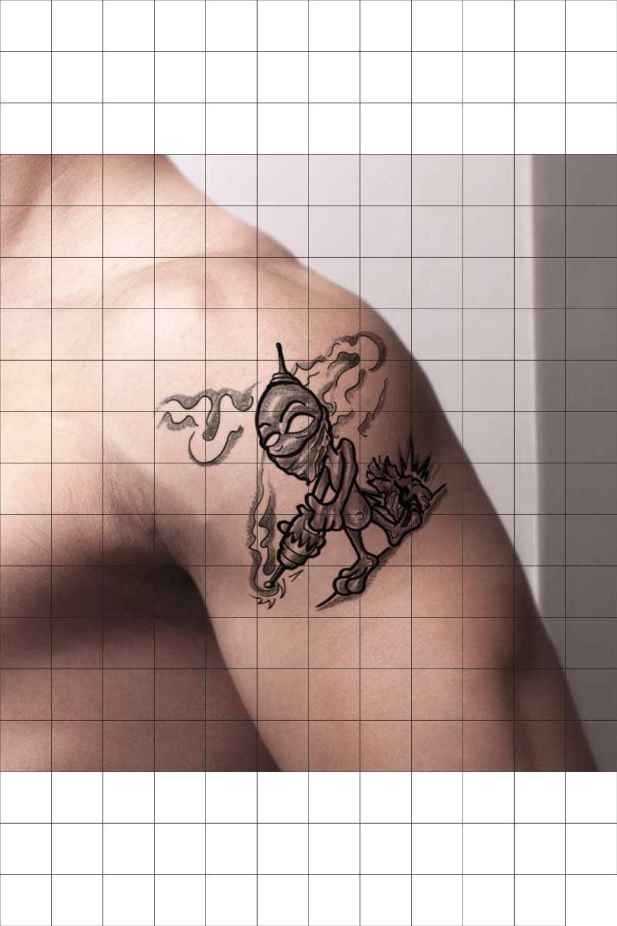 TatFast Uzaylı 204 Geçici Dövme Flash Tattoo 1