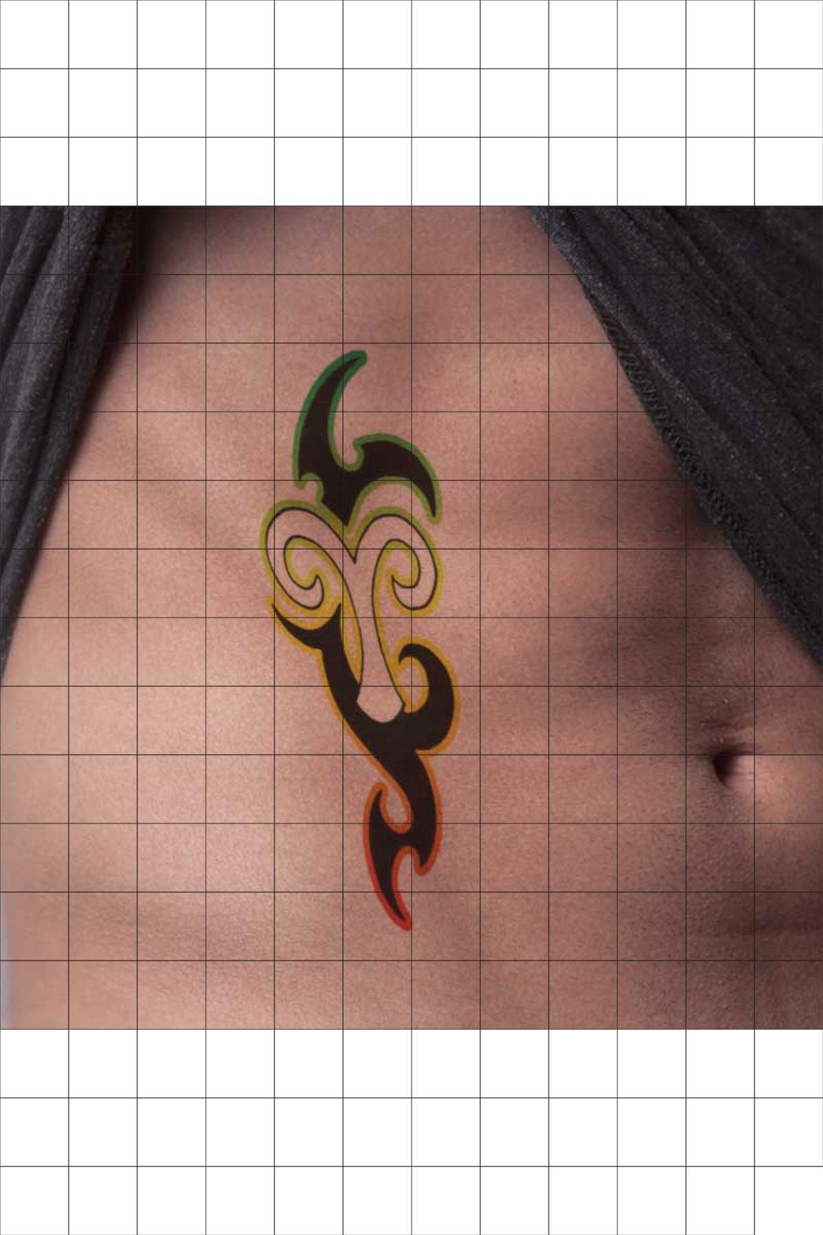 TatFast Koç 135 Geçici Dövme Flash Tattoo 1