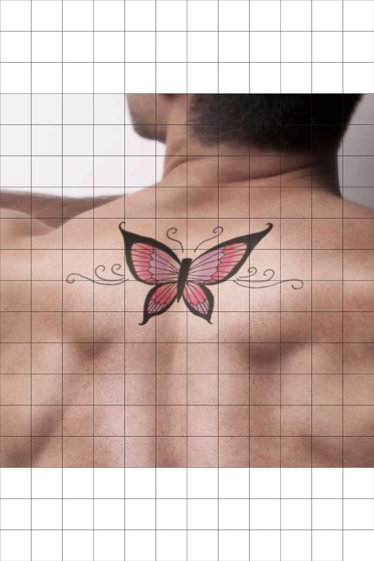 TatFast Kelebek 990 Geçici Dövme Flash Tattoo 1