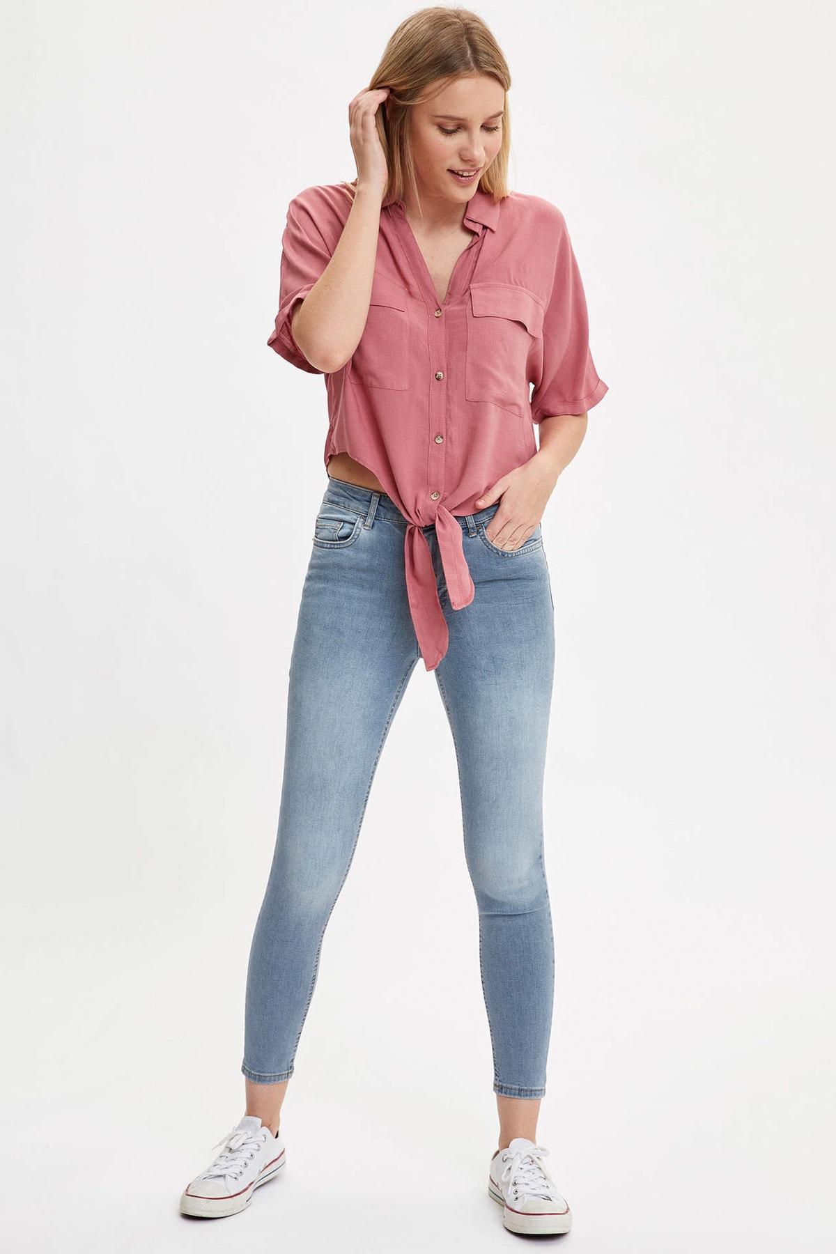 Kadın Mavi Kot Skinny Fit Jean Pantolon R2126AZ.20SM.NM39