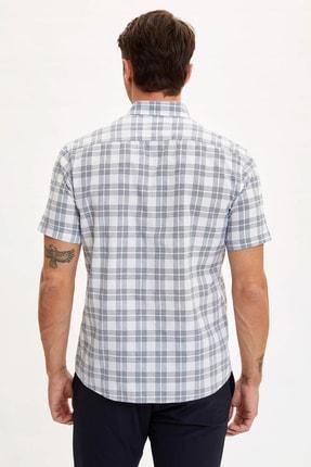 Defacto Regular Fit Ekose Desenli Kısa Kollu Gömlek 2