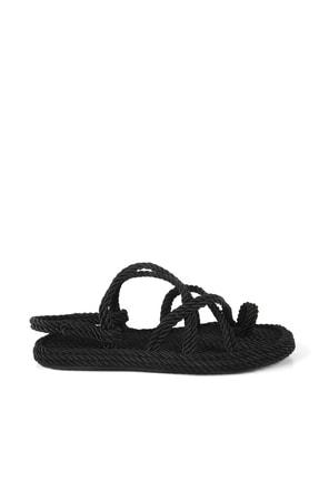 Gökhan Talay Siyah Halat Kadın Sandalet 2