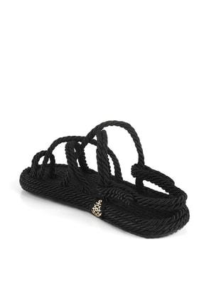 Gökhan Talay Siyah Halat Kadın Sandalet 4