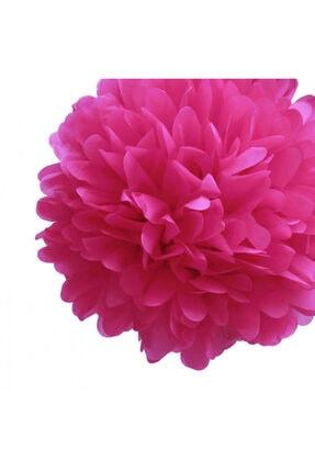 Pi İthalat Kağıt Ponpon Çiçek Asma Süsü 25 Cm - Fuşya 1