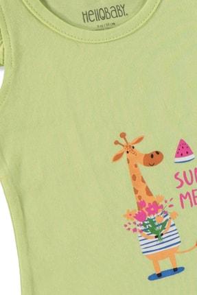 تصویر از aby Yaz Kız Bebek Fırfırlı Atlet Tshirt