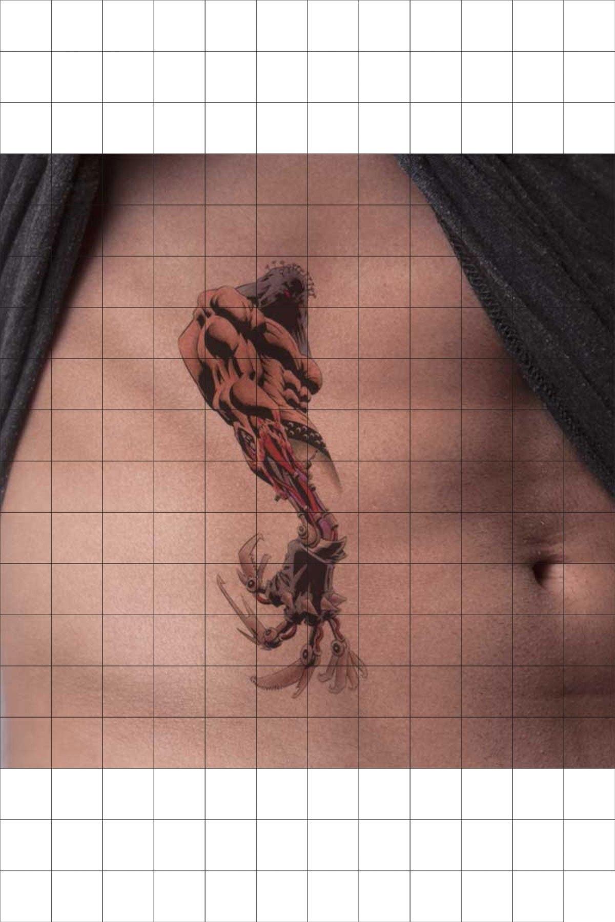 TatFast Biyomekanik 126 Geçici Dövme Flash Tattoo 1