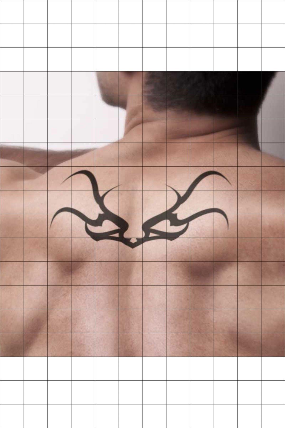 TatFast Sırt 883 Geçici Dövme Flash Tattoo 1
