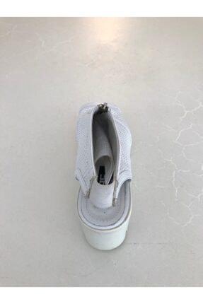 Beggi Kadın Beyaz Deri Dolgu Topuk Ayakkabı 3