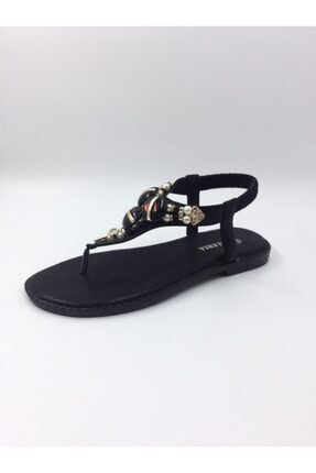 mylady Kadın Toka Detaylı Sandalet Siyah 0