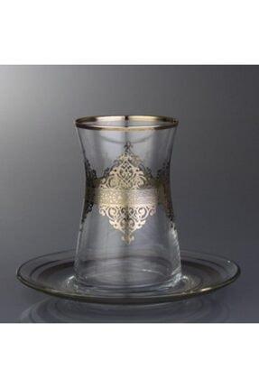 Abka Platin Desenli Çay Bardağı 0