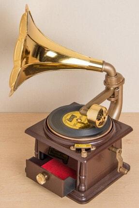 Gift Moda Nostaljik Müzik Kutusu Gramofon GM-1083 1