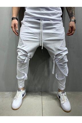2Y PREMIUM Erkek Beyaz Bağcıklı Jogger Pantolon 0