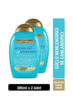 OGX Extra Güçlü Nemlendirici ve Canlandırıcı Argan Oil of Morocco Sülfatsız Bakım Kremi 385mlx2 0