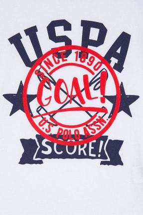 US Polo Assn Beyaz Erkek Çocuk T-Shirt 2