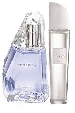 Avon Perceive Edp 50 ml Kadın Parfüm+Avon Pur Blanca Edt 50 ml Kadın Parfüm 5050000010665 0