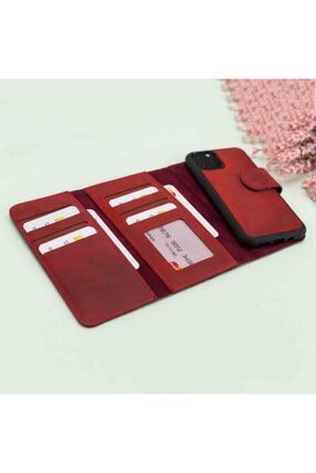 Plm Iphone 11 Santa Mw Deri Kırmızı Telefon Kılıfı 1