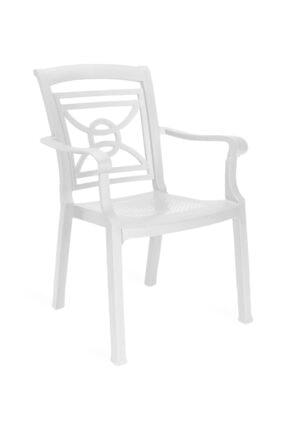 Papatya Mobilya Commadore Koltuk Beyaz - Plastik Bahçe Sandalyesi 0