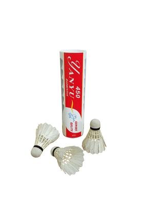 Avessa Yanyu Bad-450 Profesyonel Kaz Tüyü Badminton Topu 6 Adet Kutulu 1