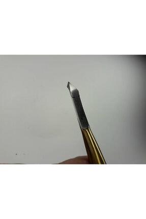 Solingen Haırcraft Hc00421 Çelik Et Pensi Half Gold Eskitme Kilitli 5 Mm Manikür Pedikür Profesyonel Pens 2